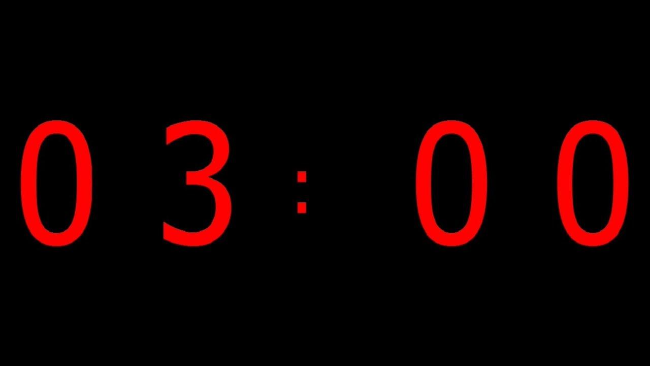 3 mins countdown
