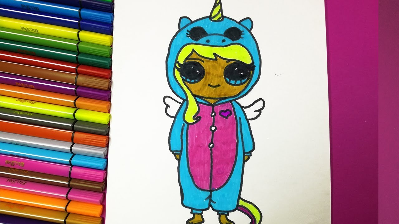 How To Draw A Cute Girl In Suit Unicorn Kawaii Drawings Youtube