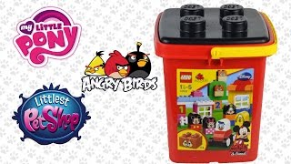 Lego surprise basket egg Angry birds Pet shop play doh my little pony