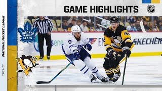 Maple Leafs @ Penguins 10/23/21 | NHL Highlights