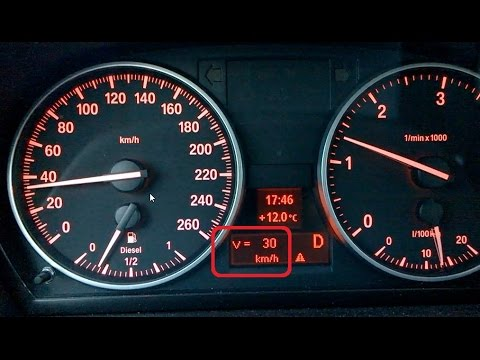 BMW 3 Series E90, MY2010 - digital uncorrected speed display activation -  digitalni prikaz hitrosti