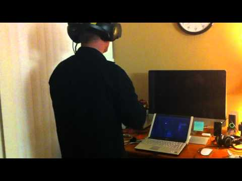 VFX1 on Laptop with head tracking