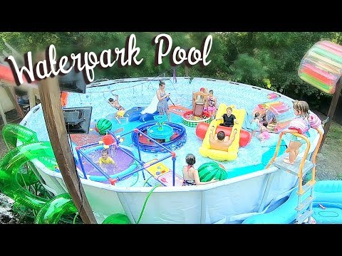 💦WATERPARK IN A SWIMMING POOL!☀️