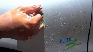 removendo mancha de piche da lataria do carro