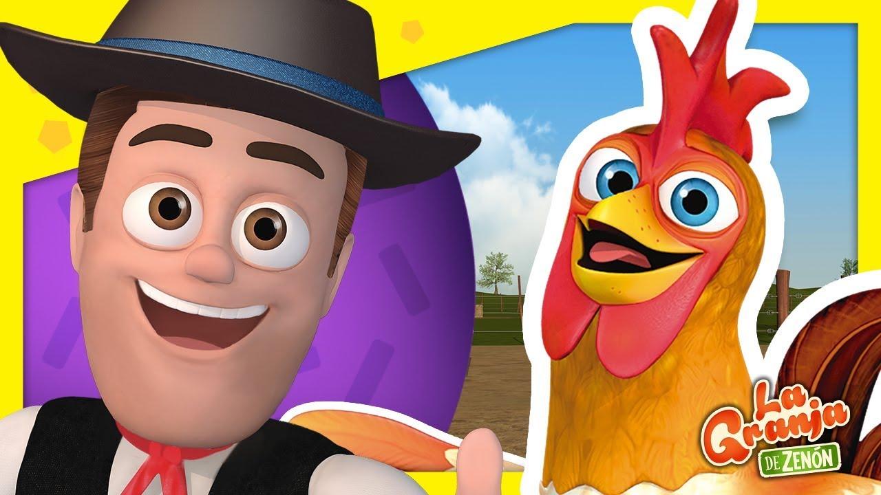 Así es La Granja Y Más Juegos de Animales con El Gallo Bartolito | La Granja de Zenón