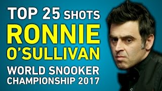 TOP SHOTS!!! RONNIE O'SULLIVAN TOP 25 GREATEST SHOTS | World Snooker Championship 2017 thumbnail