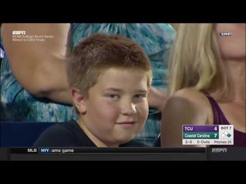 Kid Trolls ESPN Broadcast During TCU vs Coastal Carolina College