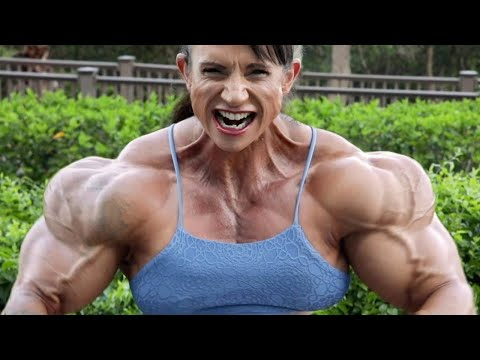 BEAUTIFUL FEMALE BODYBUILDING, LEE-ANNE,GYM WORKOUT, FITNESS MODEL, IFBB MUSCLE