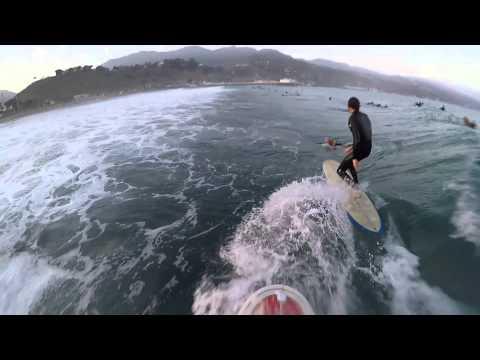 Perfect day surfing Malibu