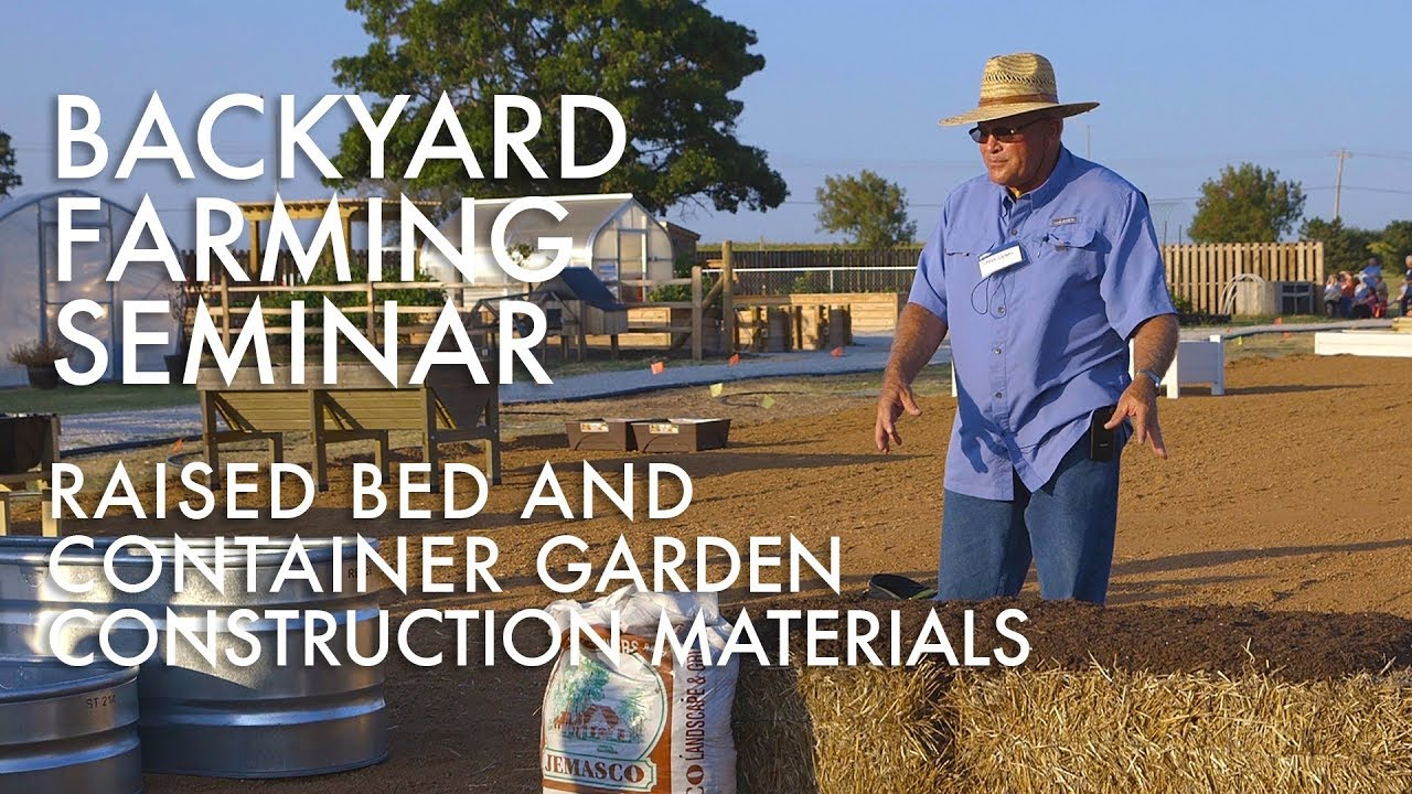 backyard farming raised bed and container materials youtube