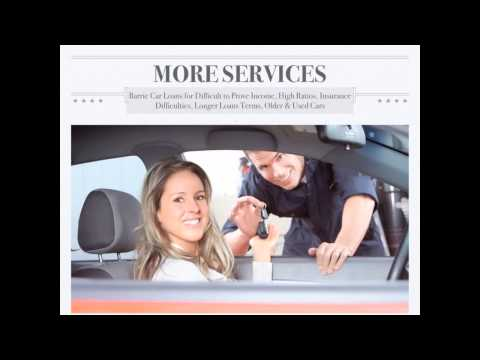 Car Loans Barrie - for Good Credit, Bad Credit, Specialty Vehicles