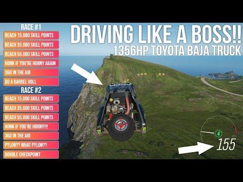 Forza Horizon 4 DRIVING LIKE A BOSS!! 1356HP Toyota Baja Truck (With Tuning and Drift Camera) thumbnail