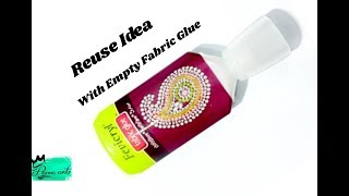 Jhumkas with Empty Fabric Glue bottle | Reuse idea | Best out of waste