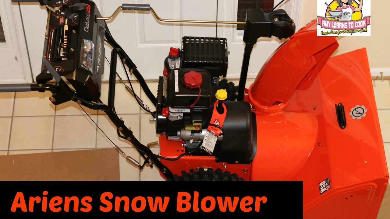 ariens deluxe 28 snow blower unboxing and assembly ~ ariens model 921046 ~  amy learns to cook - youtube