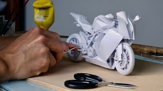 How to make bike with paper- KTM 1190 RC8 - papercraft scale model