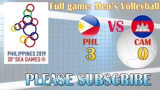 Full Game   Philippines Vs Cambodia   Men's Volleyball   Sea Games 2019   Dec 02, 2019