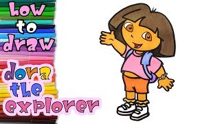 How to Draw Dora The Explorer Coloring Book Youtube Videos for Children Art Colours