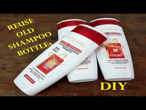 Best Reuse Idea How To Recycle Shampoo Bottle At Home - DIY
