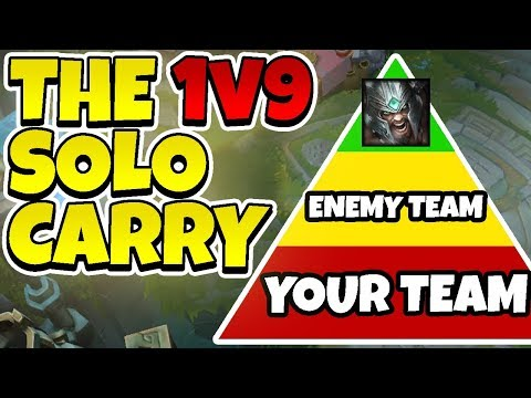 HOW TO CARRY YOUR TEAM AS TRYNDAMERE! 1v9 SOLOCARRY - League of Legends Full Gameplay
