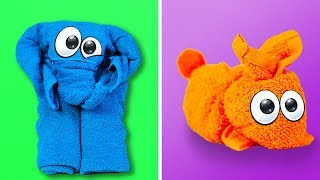 15 CUTE AND EASY TOWEL FOLDING IDEAS