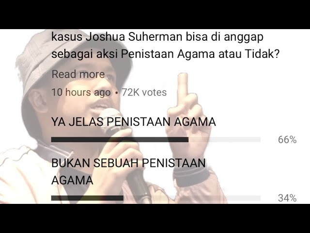 66% JOSHUA SUHERMAN MENISTA AGAMA.. TAPI...  (and a a little message from Ustad Wijayanto)