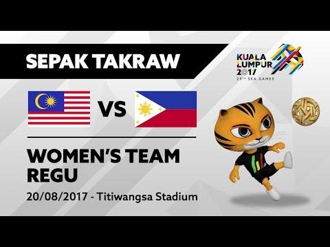 KL2017 29th SEA Games   Women's Sepak Takraw TEAM REGU - MAS 🇲🇾 vs PHI 🇵🇭   20/08/2017