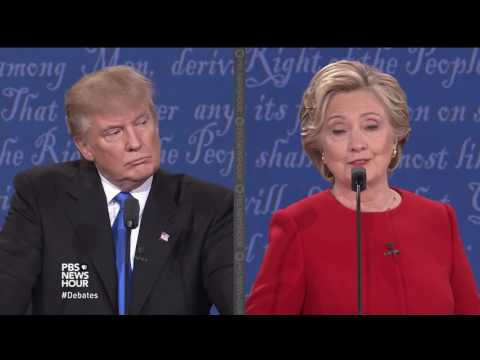 Will you accept the outcome of the election? Clinton and Trump answer