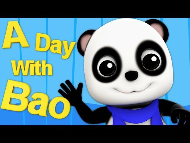 A Day With Bao | Baby Bao Panda Cartoon Videos For Children