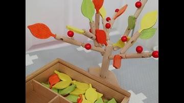 친환경 원목장난감 - 미니토 - 쑥쑥이나무(Eco-friendly wooden toy-popping tree)