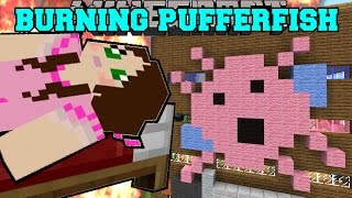 Minecraft: BURNING PINK PUFFERFISH LODGE (HOUSE OF MEMORIES!) Mini-Game