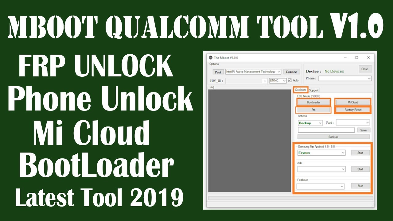 MBOOT Qualcomm Tool | All Qualcomm Cpu Frp Bypass, Lock Remove, Mi Cloud,  Bootloader