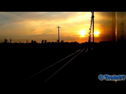 Rail Trip with Classic Train on Sunset (08 07 2013)