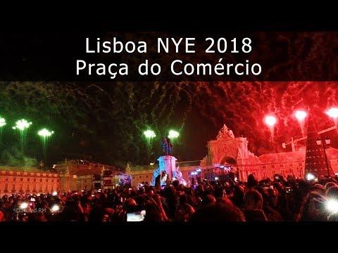 Lisbon Praça do Comércio (Terreiro do Paço) Fireworks, NYE 2017/2018