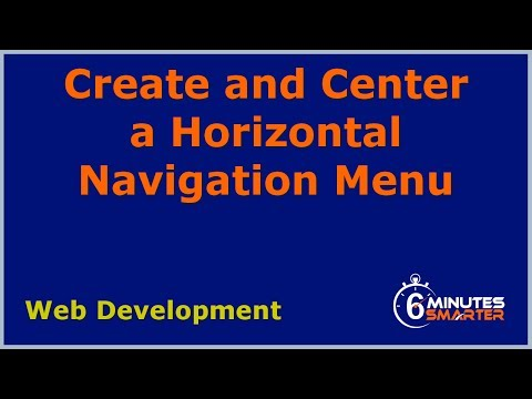 Create And Center A Horizontal Navigation Menu