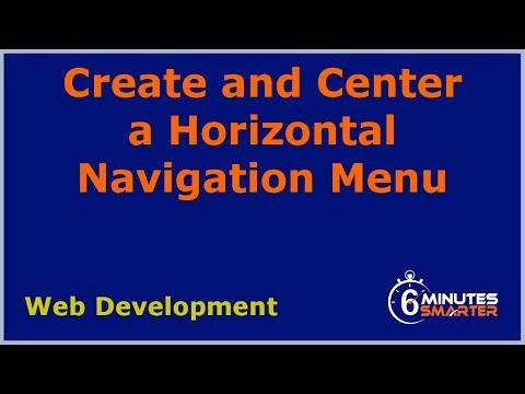 Create And Center A Horizontal Navigation Menu