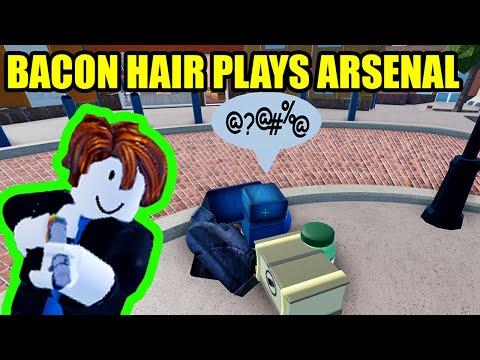 Bacon Hair plays Roblox ARSENAL