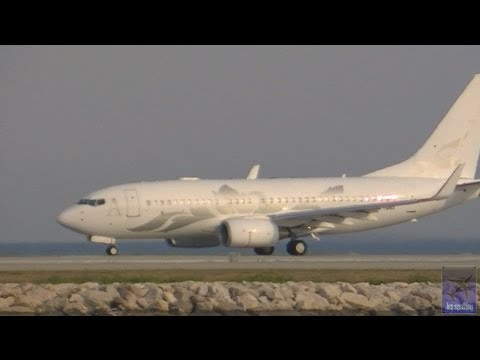 Boeing Business Jet B737 Next gen Take off | Nice Côte d'Azur Airport | NCE