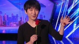 台灣魔術師 蔡威澤 硬幣神技 美國達人秀驚呆了!