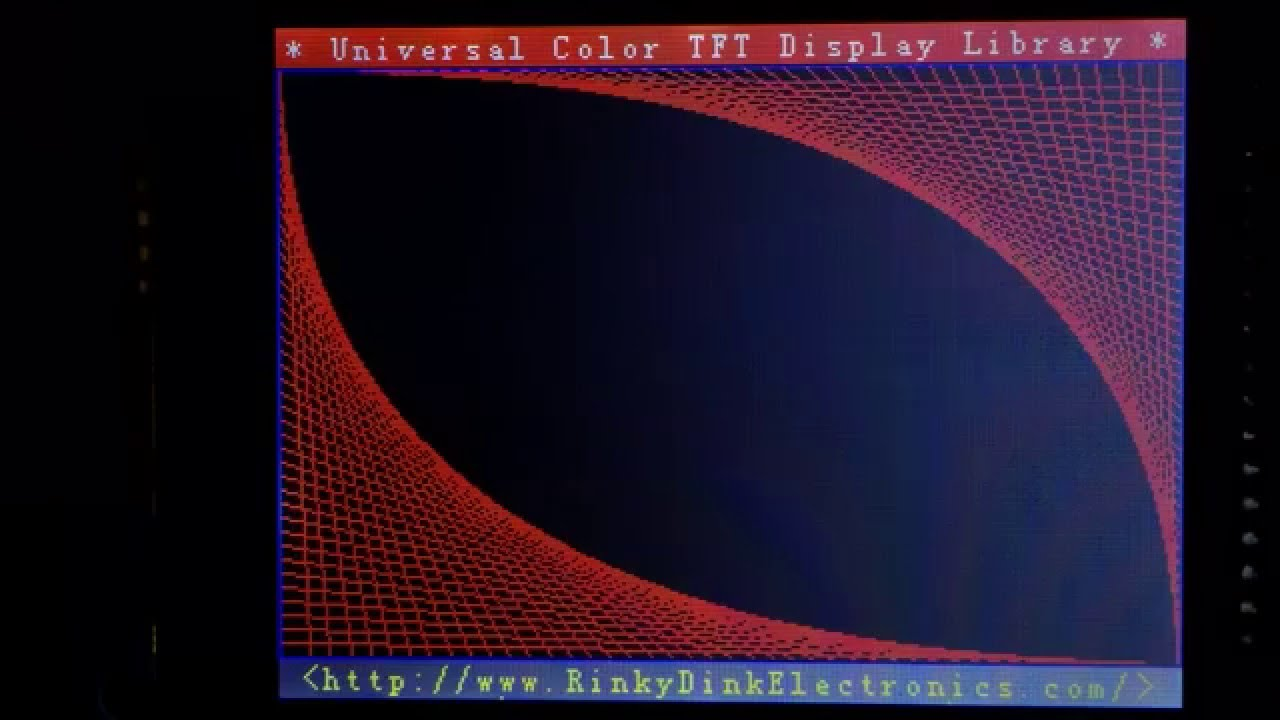 Utft demo ili bit parallel lcd touch screen with