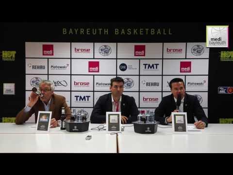 easyCredit BBL Saison 2016/2017   30. Spieltag Pressekonferenz
