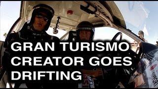 video thumbnail of Gran Turismo Kazunori Yamauchi Drift Challenge with Dai Yoshihara at SEMA 2012