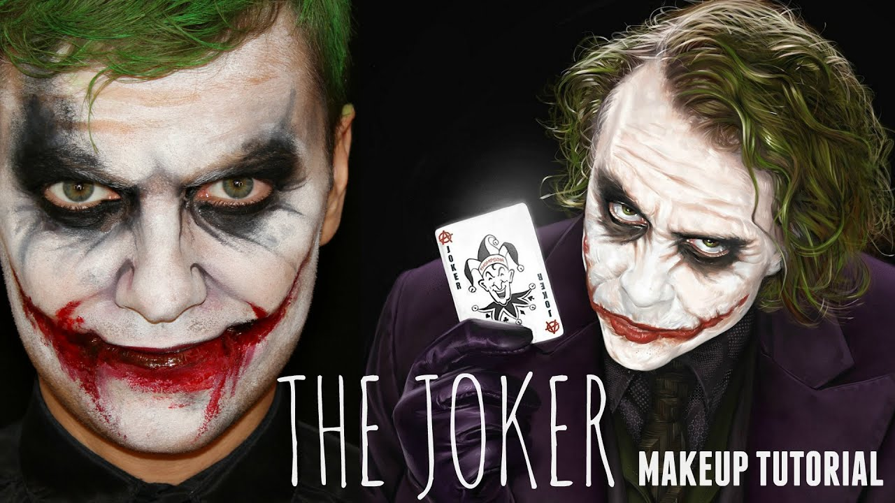 the joker easy halloween makeup and face painting. Black Bedroom Furniture Sets. Home Design Ideas