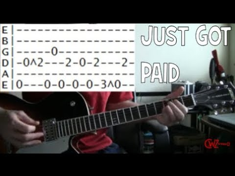 guitar lessons online ZZ top just got paid tab