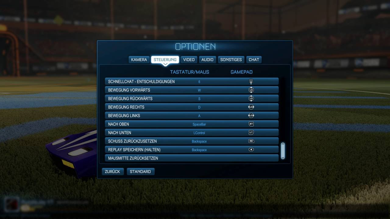 Rocket League: my camera settings and more - YouTube