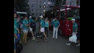 Студенты уехали из Красного Луча в Крым(Летние каникулы для студентов- время развлечений и новых впечатлений. Юноши и девушки из строительного..., 2012-07-05T07:01:39.000Z)