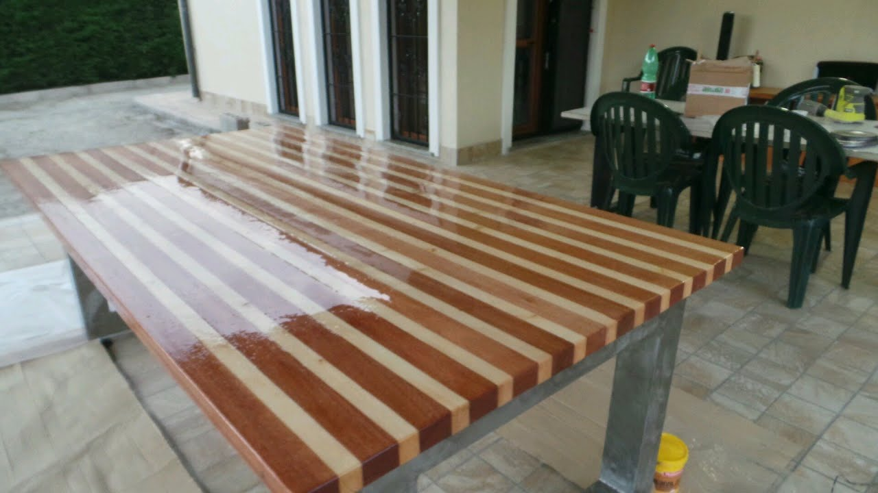 High Quality Build A Wood Table With 2 Type Of Wood   Mesa De Madera (1/2)