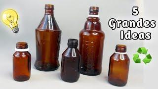 5 Grandes Ideas Con Botellas de Remedios | Ya No Los Tires.