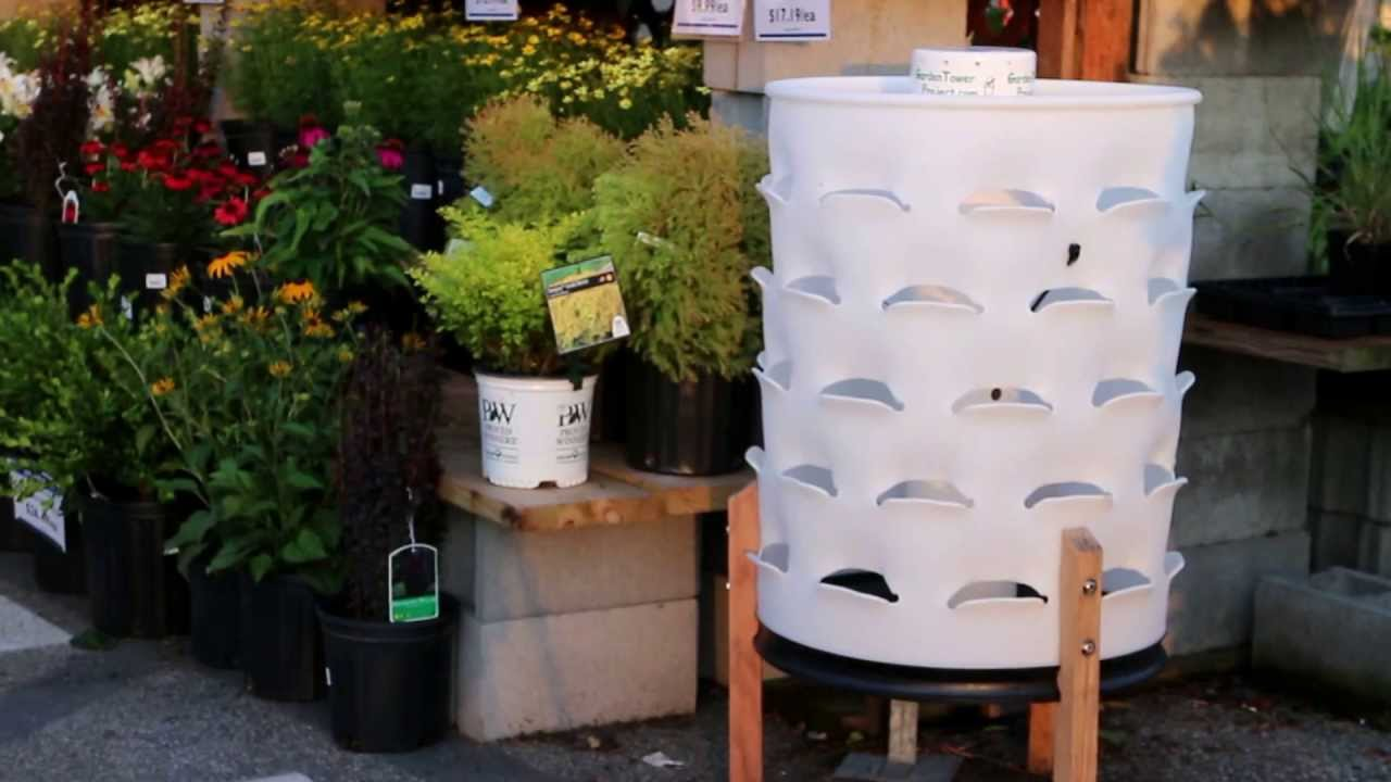 V11 Garden Tower Spring and Summer Planted Vegetables July 2013