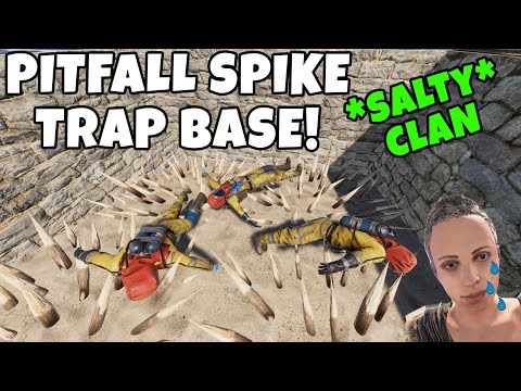 RUST   SPIKE PIT TRAP BASE ANNOYS SALTY RAIDERS! *EXTREMELY SNEAKY*