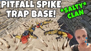 RUST | SPIKE PIT TRAP BASE ANNOYS SALTY RAIDERS! *EXTREMELY SNEAKY*